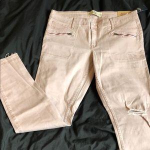 Mauve zipper jeans